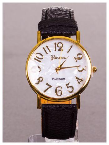 GENEVA Damski klasyczny zegarek z perłową tarczą