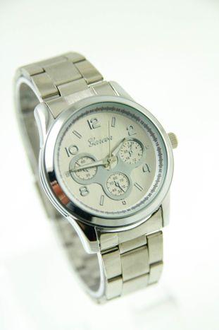 GENEVA Srebrny zegarek damski na bransolecie