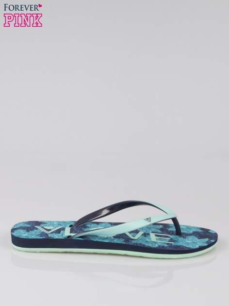 Granatowe japonki plażowe kąpielowe
