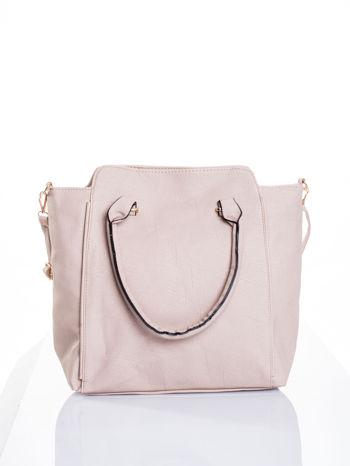 Jasnobeżowa torba shopper bag