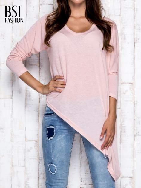Morelowa melanżowa bluzka oversize