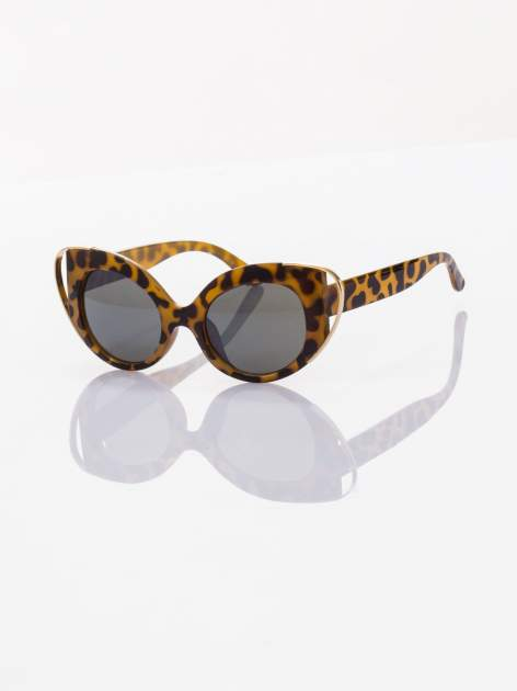 PANTERA okulary KOCIE OCZY przeciwsłoneczne w stylu vintage typ MARLIN MONROE ze złotymi elementami