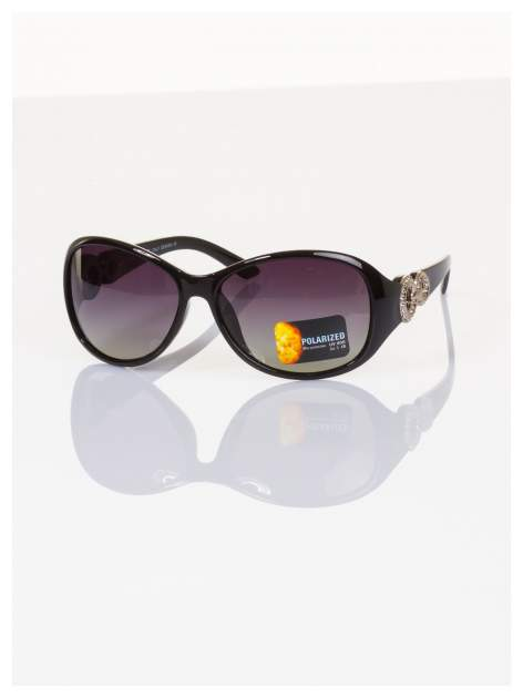 POLARYZACJA Eksluzywne o owalnym kształcie włoskie okulary z dymioną soczewką+GRATISY