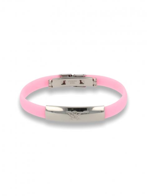 Różowa Bransoletka silikonowa