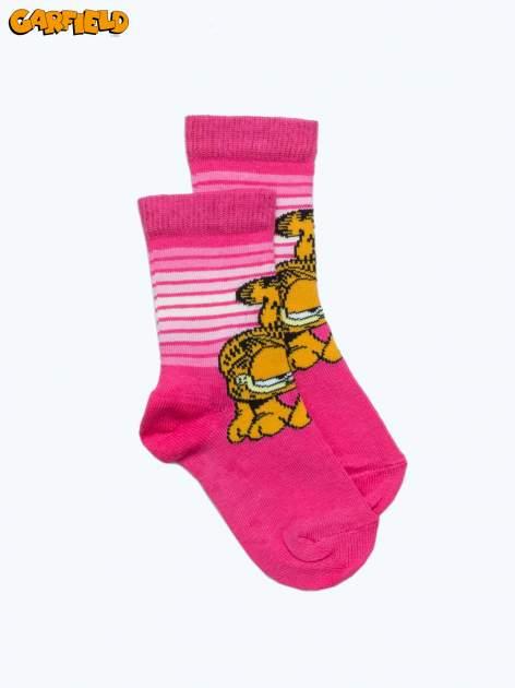 Różowe skarpetki dla dziewczynki GARFIELD