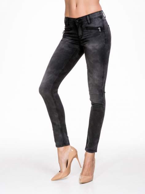 STRADIVARIUS Szare spodnie typu skinny jeans z suwakami
