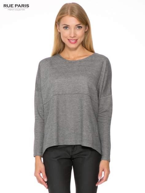 Szara dresowa bluza oversize z kieszeniami