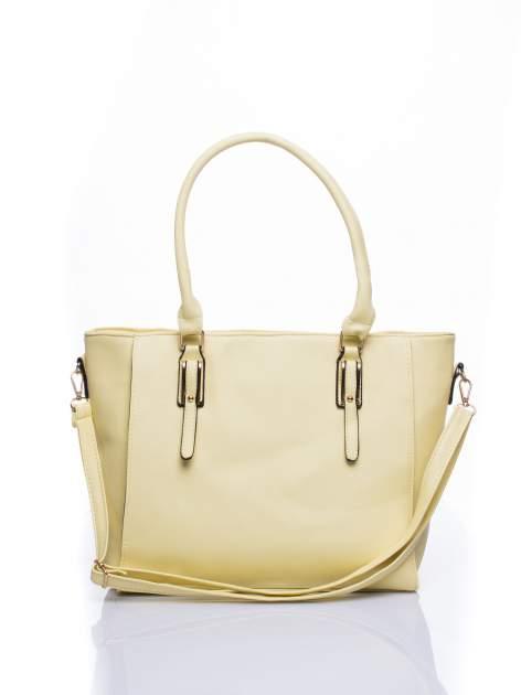 Żółta torba shopper bag z odpinanym paskiem