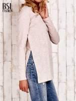 Beżowa bluzka z rozporkami z boku