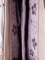 Beżowa fakturowana torba z odpinanym paskiem