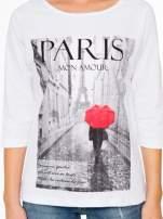 Biała bluzka z motywem Paryża