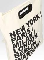 Biała torba shopper bag z printem