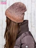 Brązowa dzianinowa czapka ombre