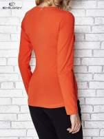 Ciemnopomarańczowa bluzka sportowa z dekoltem U