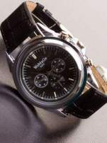 Cudny zegarek damski na czarnym pasku