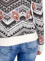 Czarna bluza w azteckie wzory