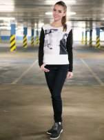 Czarna bluza z fotografią w stylu fashion