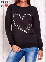 Czarna bluza z wzorem serca