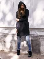 Czarna długa bluza oversize