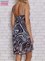 Czarna sukienka przed kolano na cienkich ramiączkach