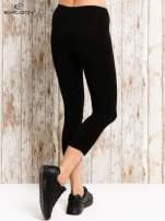 Czarne legginsy sportowe 3/4 z logo
