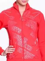 Czerwona bluza sportowa z logo EXTORY