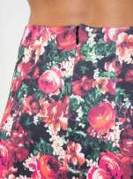 Czerwona kwiatowa mini pódnica skater