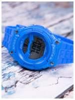 Damski zegarek z cyrkoniami i ozdobnymi misiami. Wygodny silikonowy pasek.