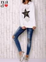 Ecru bluza z motywem gwiazdek