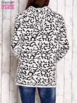 Ecru sweter zapinany na suwak