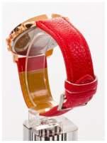 GENEVA Czerwony zegarek damski na skórzanym pasku