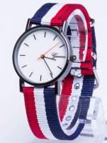 GENEVA Zegarek unisex z modnym materiałowym kolorowym paskiem