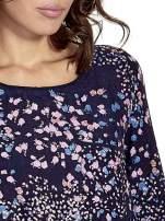 Granatowa koszula w łączkę z efektem ombre