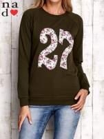 Khaki bluza z cyfrą 27