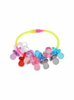 Kolorowa Bransoletka z zawieszkami w kształcie smoczków - baby shower