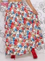 Kremowa spódnica maxi w kwiaty
