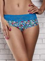 Laserowe szorty damskie z motywem florar print 2 szt.