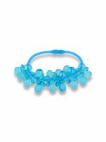 Niebieska Bransoletka z zawieszkami w kształcie smoczków - baby shower
