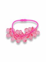 Różowa Bransoletka z zawieszkami w kształcie smoczków - baby shower
