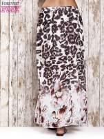 Różowa spódnica maxi we wzór panterkowokwiatowy
