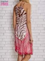Różowa sukienka wzór leopard print