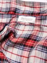 STRADIVARIUS Czerwona koszula w kratę z paskiem