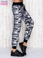 Szare spodnie dresowe moro z troczkami