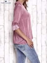 TOM TAILOR Różowa dekatyzowana koszula z podwijanymi rękawami