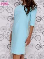 Turkusowa sukienka dresowa z suwakiem z tyłu