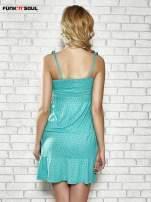 Zielona letnia sukienka w groszki Funk n Soul