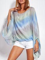 Niebiesko-szara zwiewna bluzka ombre                                  zdj.                                  8