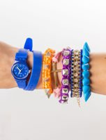 Zestaw 5 modnych bransoletek i silikonowy zegarek                                  zdj.                                  1