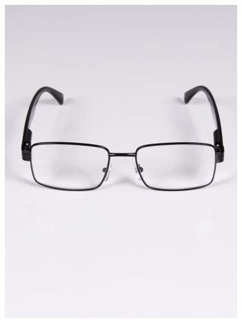 +1.0 D Delikatne czarne okulary korekcyjne do czytania z sytemem FLEX na zausznikach