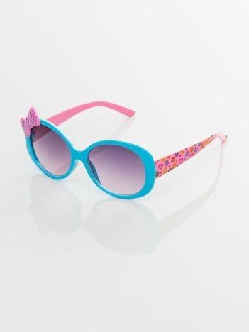 Dziecięce okulary przeciwsłoneczne z filtrami , zdobione zauszniki SERCA,BUŹKI,GWIAZDKI